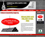 Custom Website: Commercial Pipe & Supply Corp.