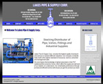 Custom Website: Lakes Pipe & Supply Corp.