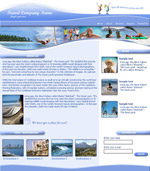 Custom Website: Travel Agency